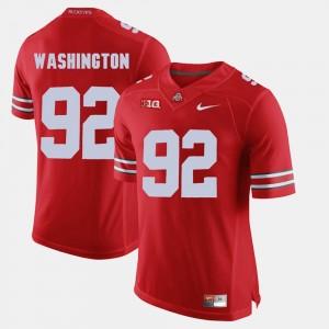 Mens OSU Buckeyes Alumni Football Game #92 Adolphus Washington college Jersey - Scarlet