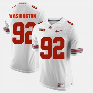 Men's #92 Alumni Football Game OSU Buckeyes Adolphus Washington college Jersey - White