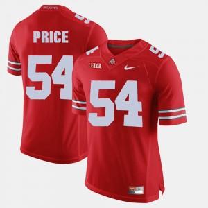 Men's #54 Alumni Football Game Buckeye Billy Price college Jersey - Scarlet
