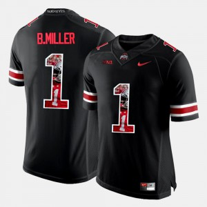 Men Pictorial Fashion Ohio State #1 Braxton Miller college Jersey - Black