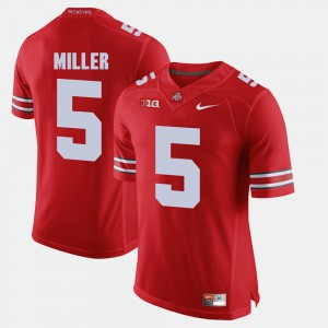 Men's #5 Ohio State Buckeyes Alumni Football Game Braxton Miller college Jersey - Scarlet