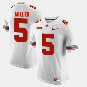Men's Alumni Football Game #5 OSU Buckeyes Braxton Miller college Jersey - White