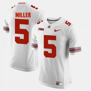 Men's Alumni Football Game #5 OSU Buckeyes Braxton Miller college Jersey - White