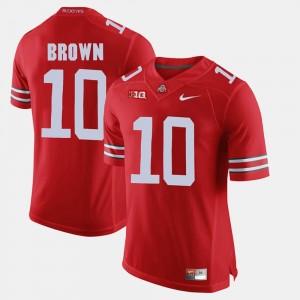 Men #10 Alumni Football Game Buckeyes CaCorey Brown college Jersey - Scarlet