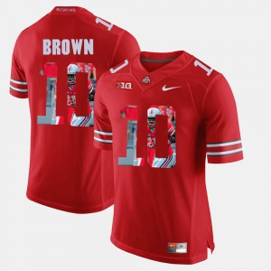 Men Ohio State #10 Pictorial Fashion CaCorey Brown college Jersey - Scarlet