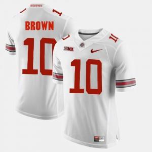 Men's #10 Alumni Football Game Ohio State CaCorey Brown college Jersey - White