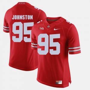 Men's Ohio State Buckeyes #95 Alumni Football Game Cameron Johnston college Jersey - Scarlet