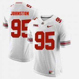 Men's OSU Buckeyes #95 Alumni Football Game Cameron Johnston college Jersey - White