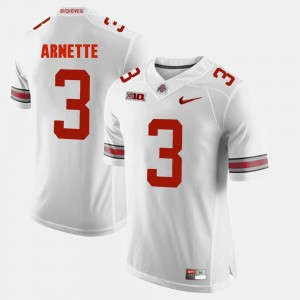 Men OSU Buckeyes #3 Alumni Football Game Damon Arnette college Jersey - White
