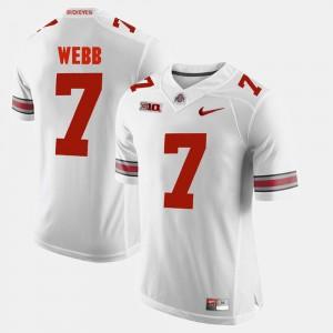 Mens Buckeyes #7 Alumni Football Game Damon Webb college Jersey - White