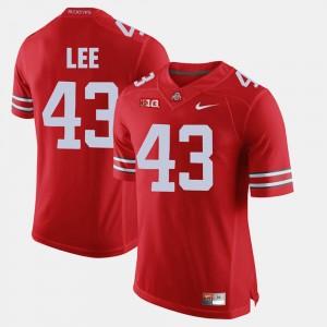 Mens Alumni Football Game Ohio State #43 Darron Lee college Jersey - Scarlet