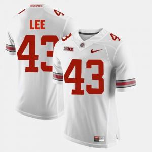 Men Ohio State #43 Alumni Football Game Darron Lee college Jersey - White