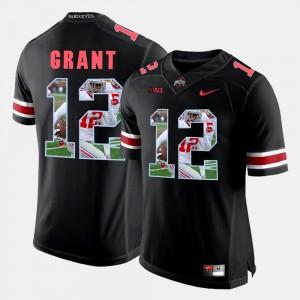 Men's Ohio State #12 Pictorial Fashion Doran Grant college Jersey - Black