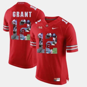 Men Ohio State Buckeye Pictorial Fashion #12 Doran Grant college Jersey - Scarlet