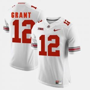 Mens Ohio State #12 Alumni Football Game Doran Grant college Jersey - White