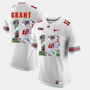 Mens Ohio State Buckeye #12 Pictorial Fashion Doran Grant college Jersey - White