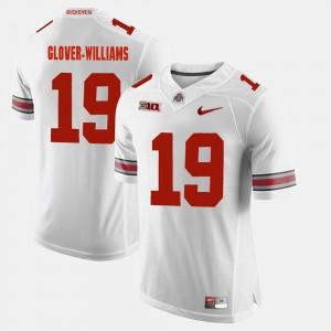 Mens Alumni Football Game #19 OSU Buckeyes Eric Glover-Williams college Jersey - White