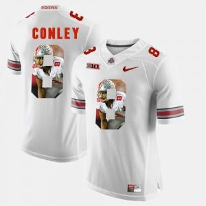Men Pictorial Fashion Buckeyes #8 Gareon Conley college Jersey - White