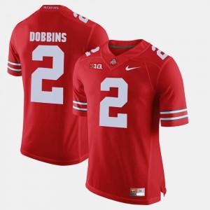 Men #2 J.K. Dobbins college Jersey - Scarlet Alumni Football Game OSU Buckeyes