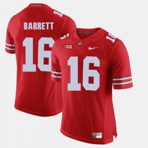 Mens #16 Alumni Football Game Buckeyes J.T. Barrett college Jersey - Scarlet