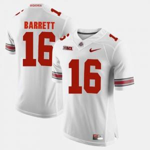 Mens Alumni Football Game Ohio State Buckeye #16 J.T. Barrett college Jersey - White