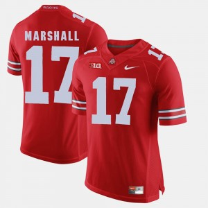 Men's Buckeyes #17 Alumni Football Game Jalin Marshall college Jersey - Scarlet