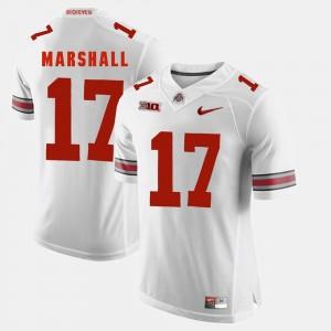 Mens OSU #17 Alumni Football Game Jalin Marshall college Jersey - White