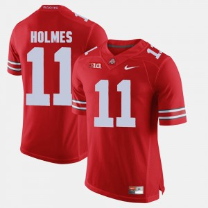 Men's #11 Alumni Football Game Ohio State Buckeyes Jalyn Holmes college Jersey - Scarlet