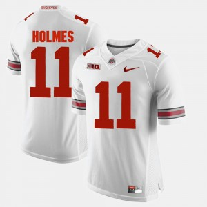 Men #11 Ohio State Alumni Football Game Jalyn Holmes college Jersey - White