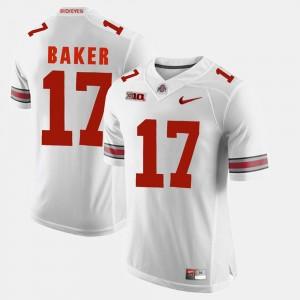 Mens Buckeye Alumni Football Game #17 Jerome Baker college Jersey - White