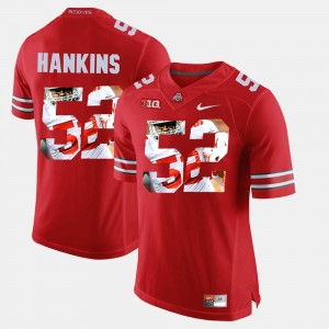 Mens #52 OSU Buckeyes Pictorial Fashion Johnathan Hankins college Jersey - Scarlet