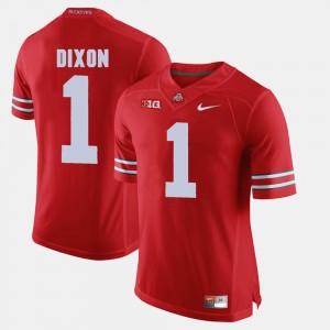 Men's #1 Alumni Football Game Buckeye Johnnie Dixon college Jersey - Scarlet