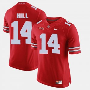 Men #14 Alumni Football Game Ohio State K.J. Hill college Jersey - Scarlet
