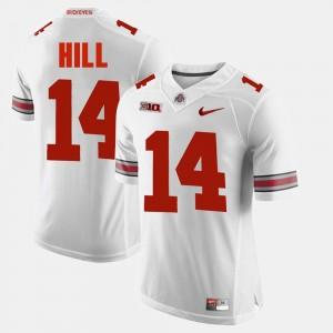 Men's OSU Buckeyes #14 Alumni Football Game K.J. Hill college Jersey - White