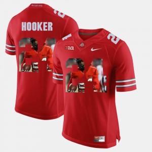 Men's Pictorial Fashion OSU #24 Malik Hooker college Jersey - Scarlet