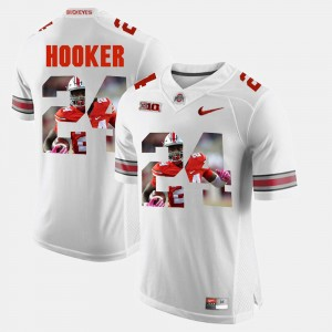 Men Pictorial Fashion Ohio State Buckeye #24 Malik Hooker college Jersey - White