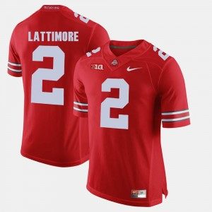 Men #2 Alumni Football Game Ohio State Buckeye Marshon Lattimore college Jersey - Scarlet