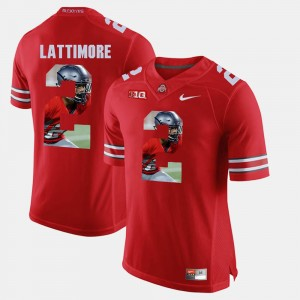 Men Pictorial Fashion OSU #2 Marshon Lattimore college Jersey - Scarlet