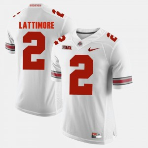 Men Alumni Football Game #2 OSU Buckeyes Marshon Lattimore college Jersey - White