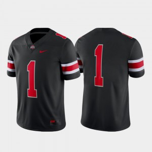 Men Alternate Football Game Ohio State #1 college Jersey - Black