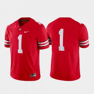 Men's Ohio State #1 Game Football college Jersey - Scarlet