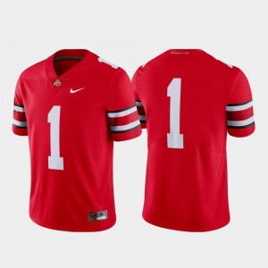 Men Football Buckeyes #1 Limited college Jersey - Scarlet