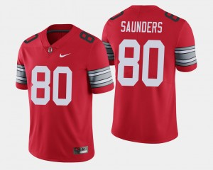Men #80 2018 Spring Game Limited Ohio State C.J. Saunders college Jersey - Scarlet