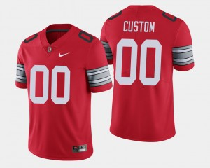 Men #00 OSU Buckeyes 2018 Spring Game Limited college Customized Jersey - Scarlet