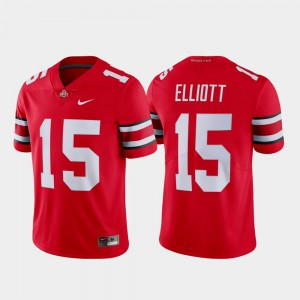 Men Name & Number Limited #15 OSU Ezekiel Elliott college Jersey - Scarlet