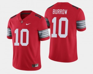 Mens #10 2018 Spring Game Limited Ohio State Buckeye Joe Burrow college Jersey - Scarlet