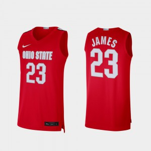Men's Ohio State Buckeyes #23 Alumni Limited LeBron James college Jersey - Scarlet