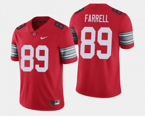 Men's #89 Buckeye 2018 Spring Game Limited Luke Farrell college Jersey - Scarlet