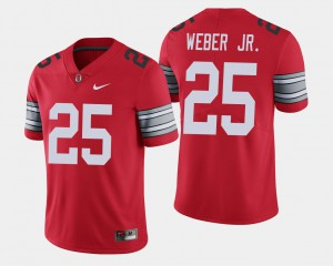 Men #25 Ohio State Buckeyes 2018 Spring Game Limited Mike Weber college Jersey - Scarlet