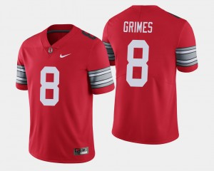 Men's #8 2018 Spring Game Limited Buckeyes Trevon Grimes college Jersey - Scarlet